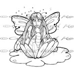 *New*Lily Pad Faery Digital Stamp